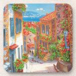 Mediterranean Town. Beverage Coasters