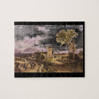 Mediterranean Village', James_Engravings Jigsaw Puzzle