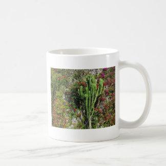 Mediterranean wall decoration with cactus classic white coffee mug