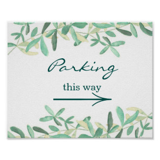 Mediterranean | Wedding Parking Sign