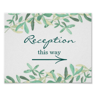 Mediterranean | Wedding Reception Sign