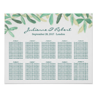 Mediterranean | Wedding Seating Chart Landscape 10