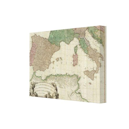 Mediterranean West Canvas Print