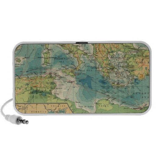 Mediterráneo, cables del Mar Negro, estaciones ina PC Altavoces