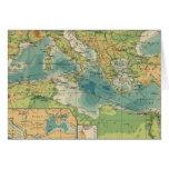 Mediterráneo, cables del Mar Negro, estaciones ina Tarjeta De Felicitación