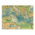 Mediterráneo, cables del Mar Negro, estaciones Postal
