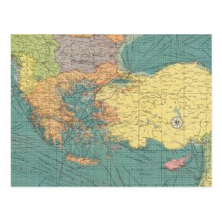 Mediterráneo del este postal