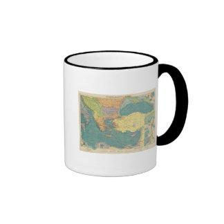 Mediterráneo del este tazas de café