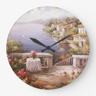 Meditteranean Village Wall Clock
