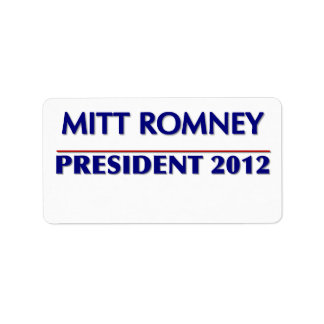 Medium 18 Custom Labels Per Sheet Mitt Romney