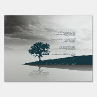 """Medium, 18"""" x 24"""" Yard Sign - Psalm 23"""