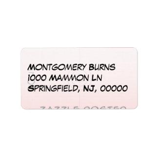 Medium - Address Label