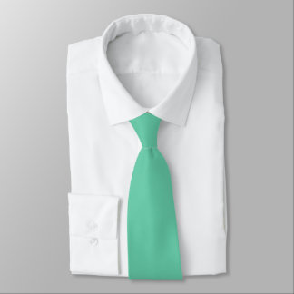 Medium Aquamarine Polyester Neck Tie