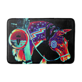 "Medium Bath Mat with ""Painted Pony"" Design"