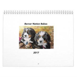 Medium Berner Nation Babes 2017 calender Calendar