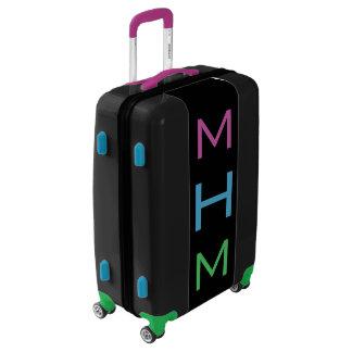 MEDIUM Black+Purple+Blue+Green Monogram Luggage