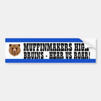 Medium Blue and White School Colors Car Bumper Sticker