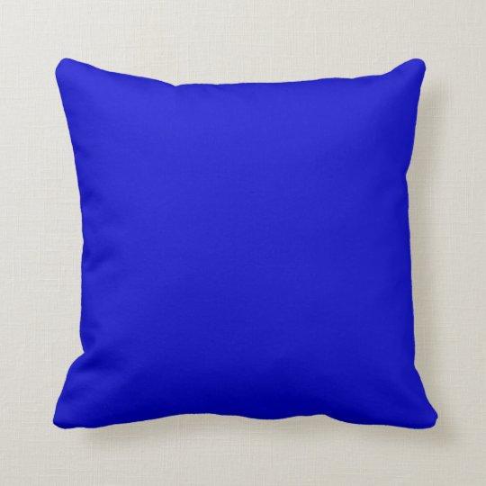 Medium Blue Throw Pillow