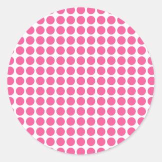 Medium Bubble Gum Dots Classic Round Sticker