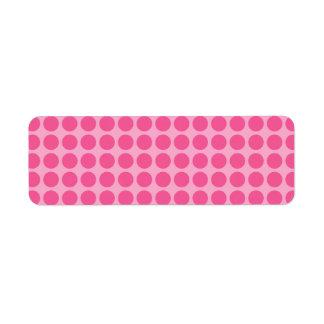 Medium Bubble Gum Dots Label
