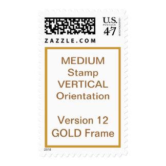 MEDIUM Custom Postage Vertical GOLD Frame V12