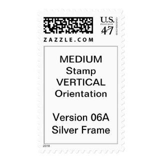 MEDIUM Custom Postage Vertical Silver Frame V06A