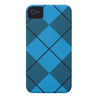 Medium & Dark Blue Argyle iPhone 4 Cover