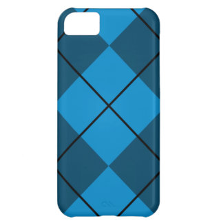 Medium & Dark Blue Argyle iPhone 5C Case