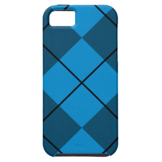 Medium & Dark Blue Argyle iPhone SE/5/5s Case