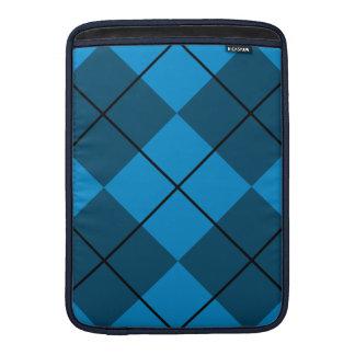 Medium & Dark Blue Argyle MacBook Air Sleeve