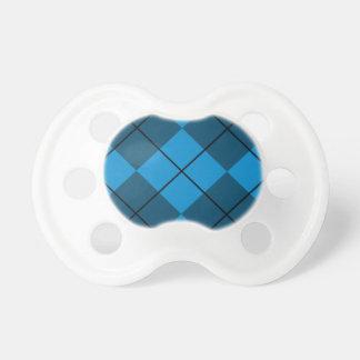 Medium & Dark Blue Argyle Pacifier