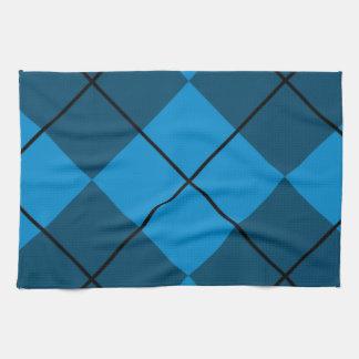 Medium & Dark Blue Argyle Towel