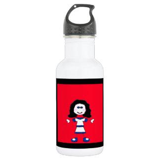 Medium Girl Stick Family 18oz Water Bottle