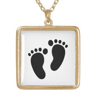 Medium Gold Square Charm Necklace