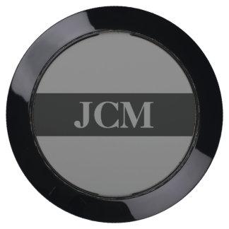Medium Gray on Black Frame on Gray USB Charging Station