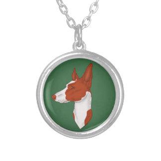 Medium Green Red Smooth Ibizan Hound Necklace