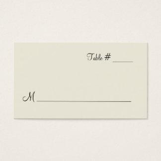 Medium Ivory Escort Place Card