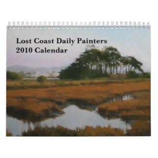 Medium Lost Coast Daily Painters 2010 Calendar calendar