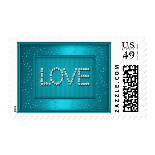 MEDIUM Love on Layers of Sparkle Stamps