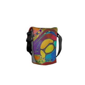 Medium Messenger Bag Bold Organic Design Red 2