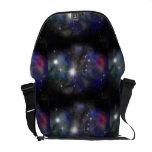 Medium Messenger Bag Outside Print-Blue Nebula