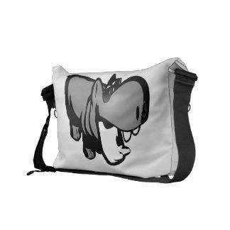 Medium Messenger Bag Outside Print - Summertime