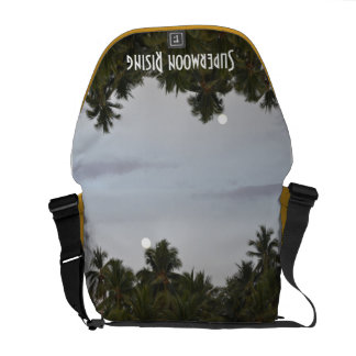 Medium Messenger Bag with Supermoon Rising Print