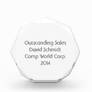 Medium Octagonal Award