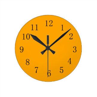 Medium Orange Earth Tone Kitchen Wall Clock