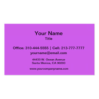 Medium Orchid Solid Color Business Card