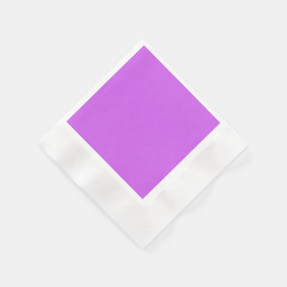 Medium Orchid Solid Color Coined Cocktail Napkin