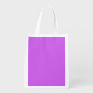 Medium Orchid Solid Color Grocery Bags
