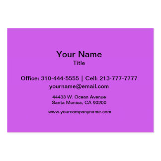 Medium Orchid Solid Color Large Business Card