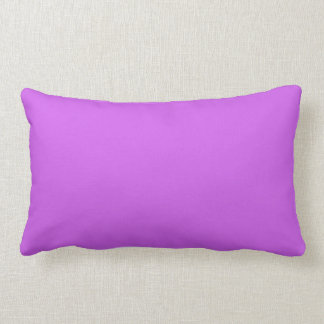 Medium Orchid Solid Color Lumbar Pillow